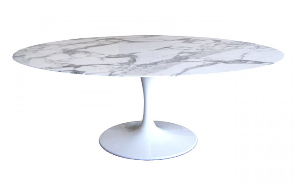 Eero Saarinen Tulip oval Dining Table - Bauhaus Italy