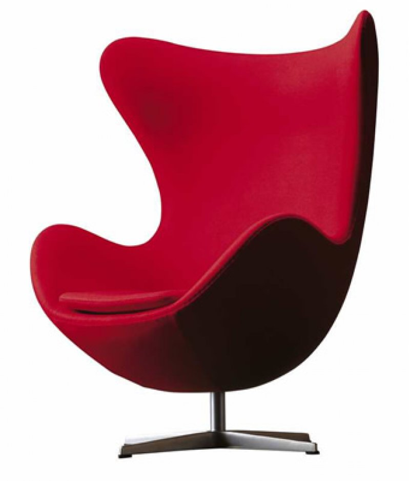 Egg chair by arne jacobsen bauhaus italy for Famous modern chairs