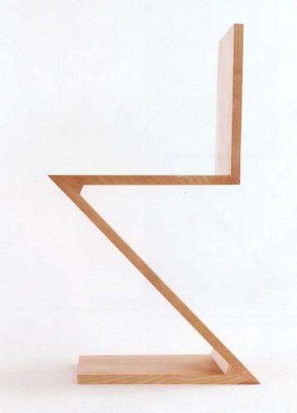 Zig Zag Chair Thomas Gerrit Rietveld Bauhaus Italy