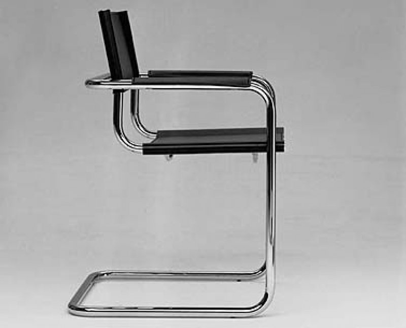 cantilever chair by mart stam bauhaus italy. Black Bedroom Furniture Sets. Home Design Ideas