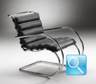 VAN DER RHOE MR LOUNGE CHAIR