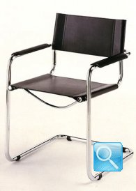 Mart stam cantilever chair with armrests bauhaus italy for Bauhaus italia