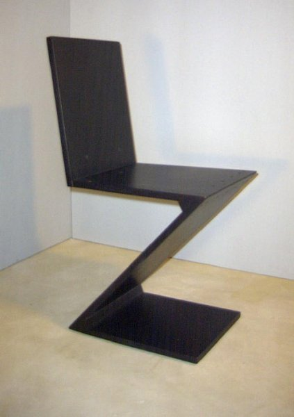 zig zag chair thomas gerrit rietveld bauhaus italy. Black Bedroom Furniture Sets. Home Design Ideas