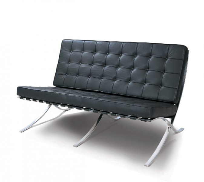 Mies van der rohe barcelona sofa chair bauhaus italy for Sofas de 4 plazas baratos