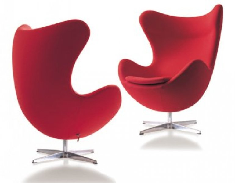 Egg chair by arne jacobsen bauhaus italy for Egg chair jacobsen