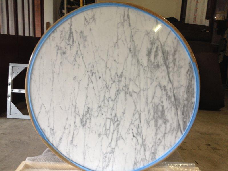 EERO SAARINEN TULIP TABLE Carrara marble diameter 120 x h 72Base
