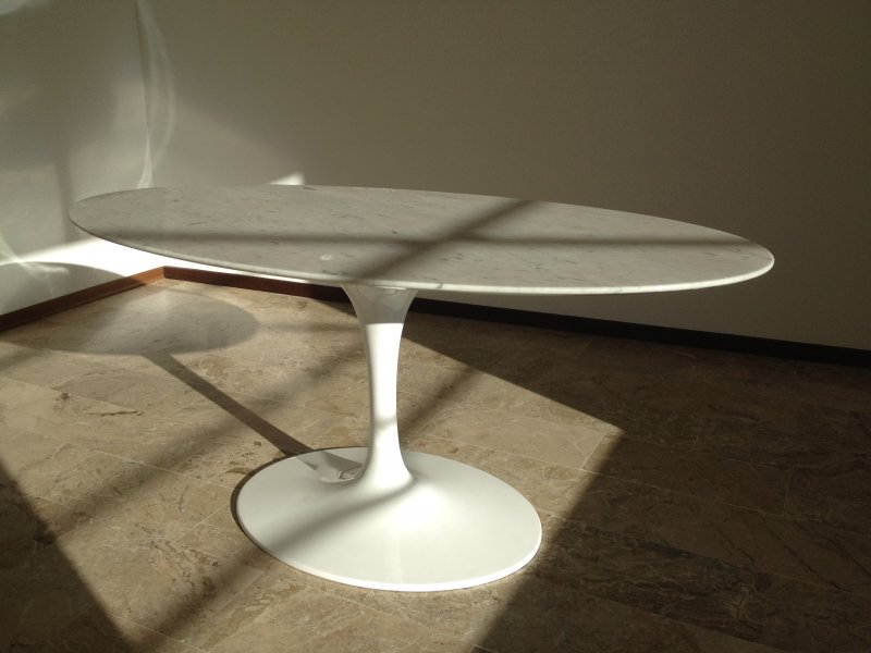 Eero saarinen tulip oval dining table bauhaus italy - Saarinen table ovale ...