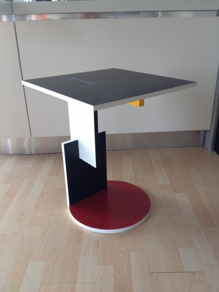 Rietveld Schroder Table Red And Blue
